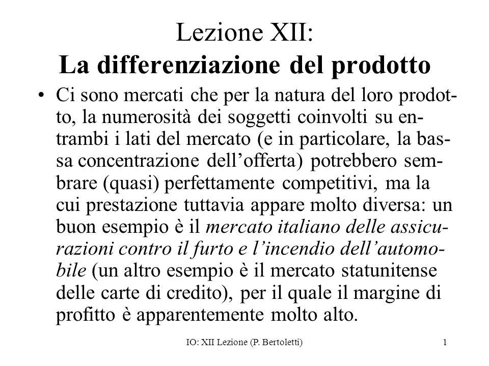 Lezione XII: La differenziazione del prodotto