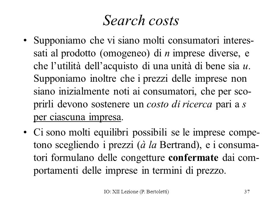IO: XII Lezione (P. Bertoletti)