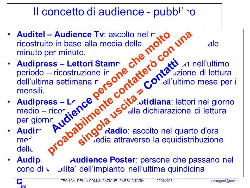 Il concetto di audience - pubblico