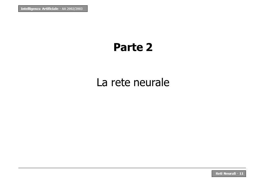 Parte 2 La rete neurale