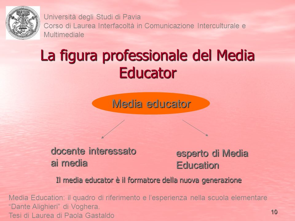 La figura professionale del Media Educator