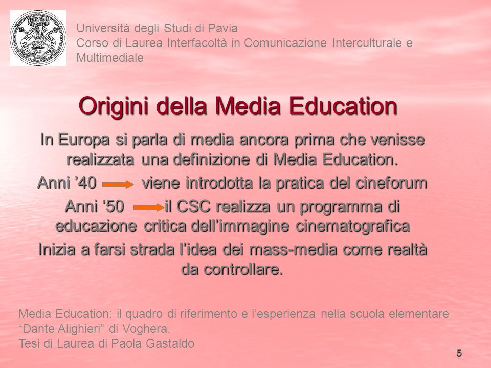 Origini della Media Education