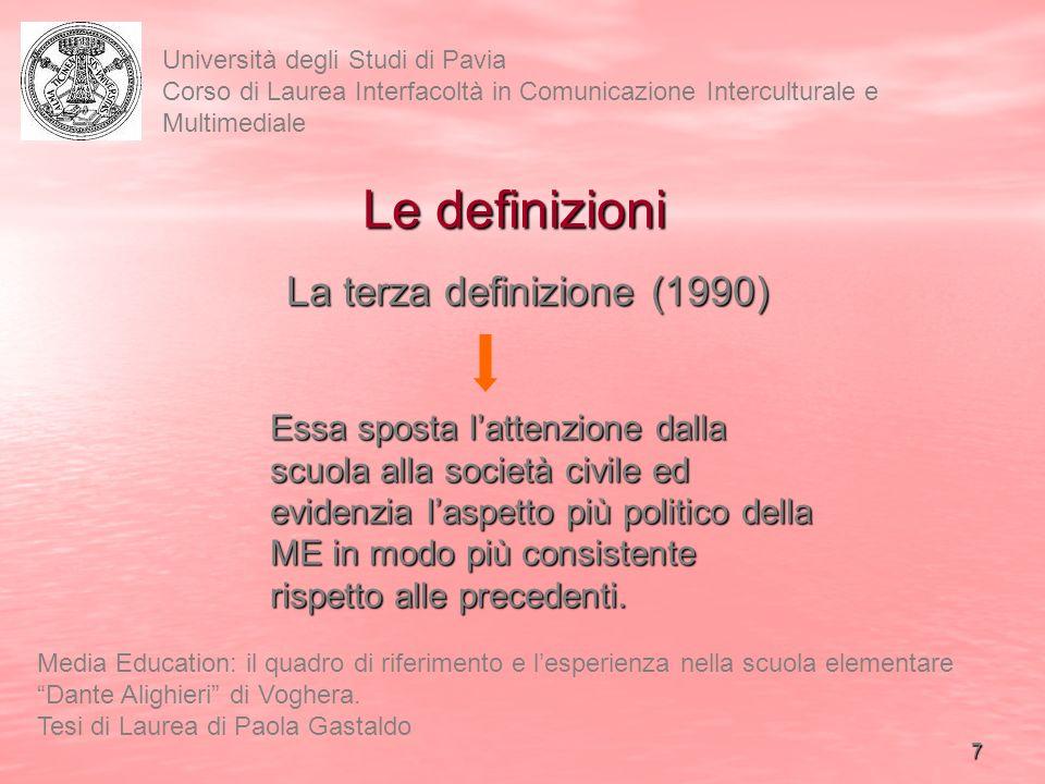 Le definizioni La terza definizione (1990)