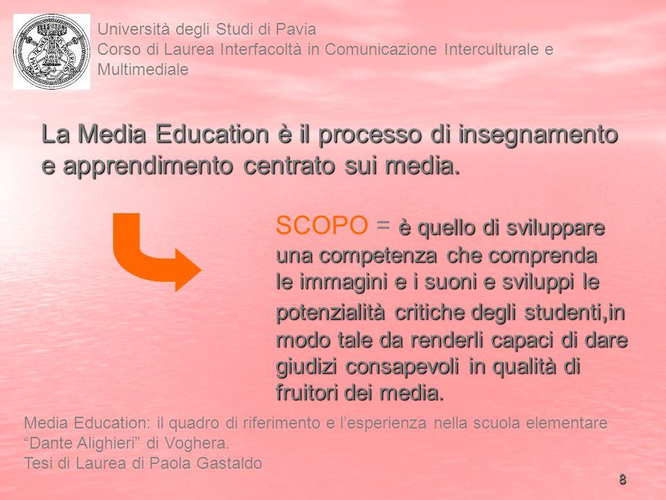 La Media Education è il processo di insegnamento