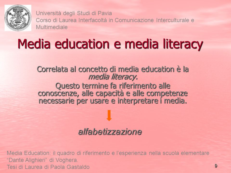 Media education e media literacy