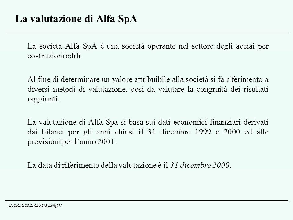La valutazione di Alfa SpA