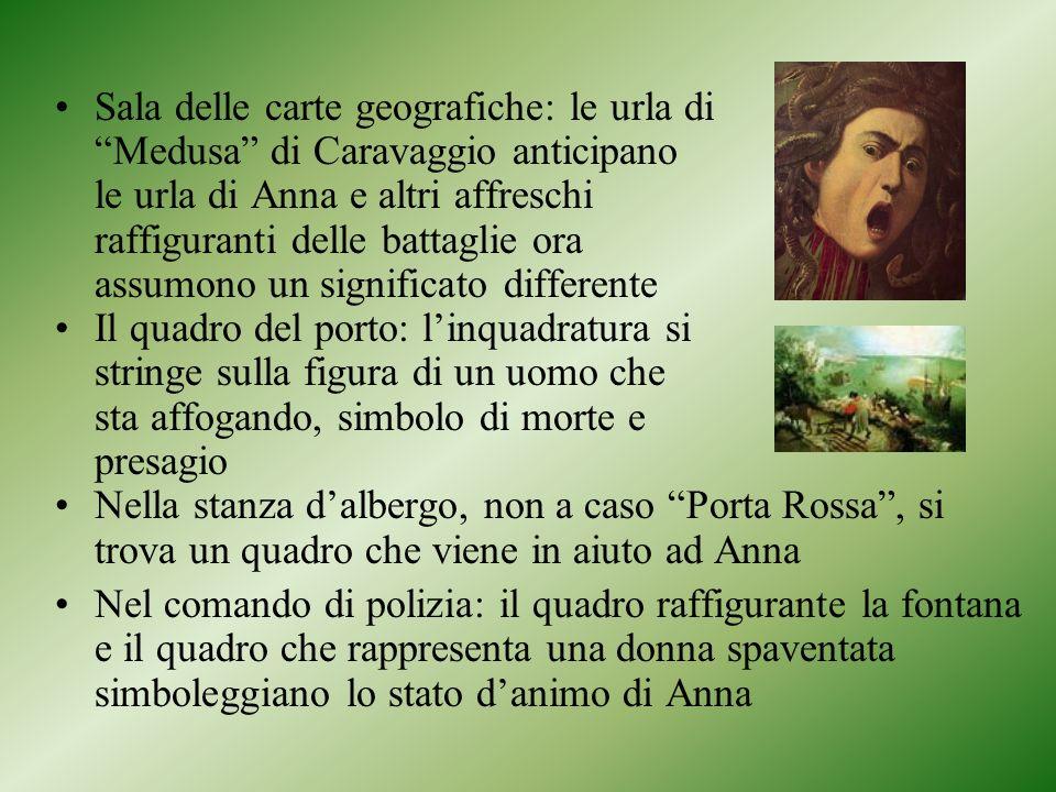 Sala delle carte geografiche: le urla di Medusa di Caravaggio anticipano le urla di Anna e altri affreschi raffiguranti delle battaglie ora assumono un significato differente