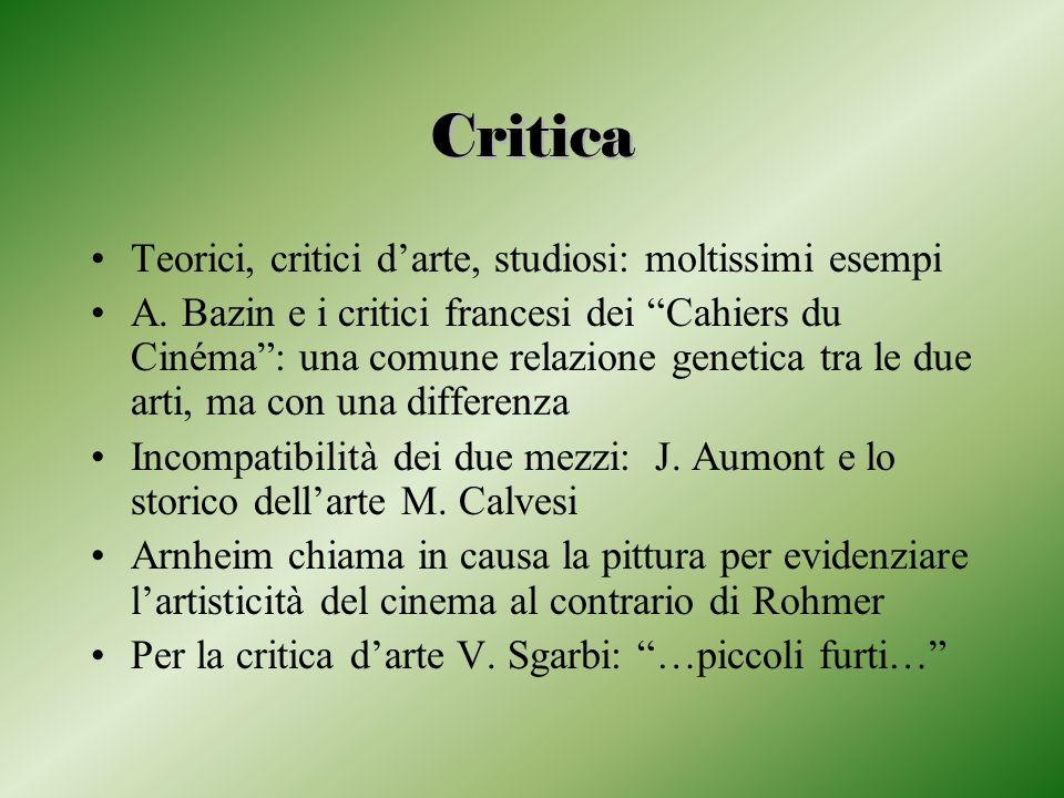 Critica Teorici, critici d'arte, studiosi: moltissimi esempi