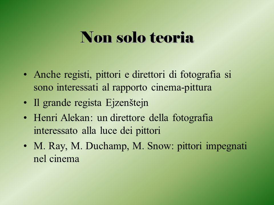 Non solo teoria Anche registi, pittori e direttori di fotografia si sono interessati al rapporto cinema-pittura.