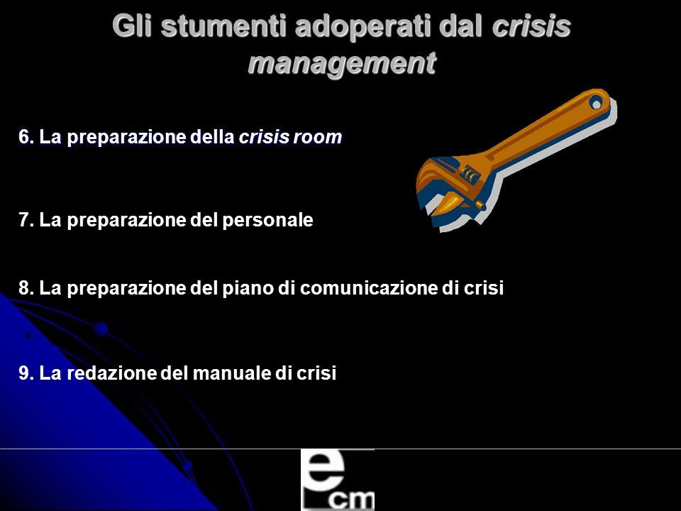 Gli stumenti adoperati dal crisis management