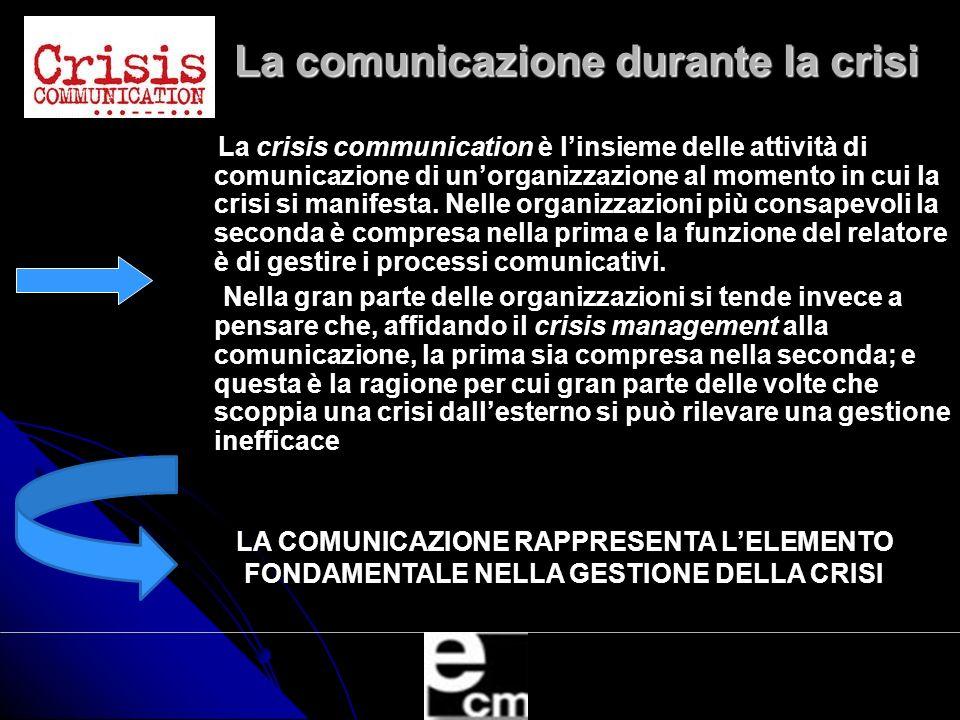 La comunicazione durante la crisi