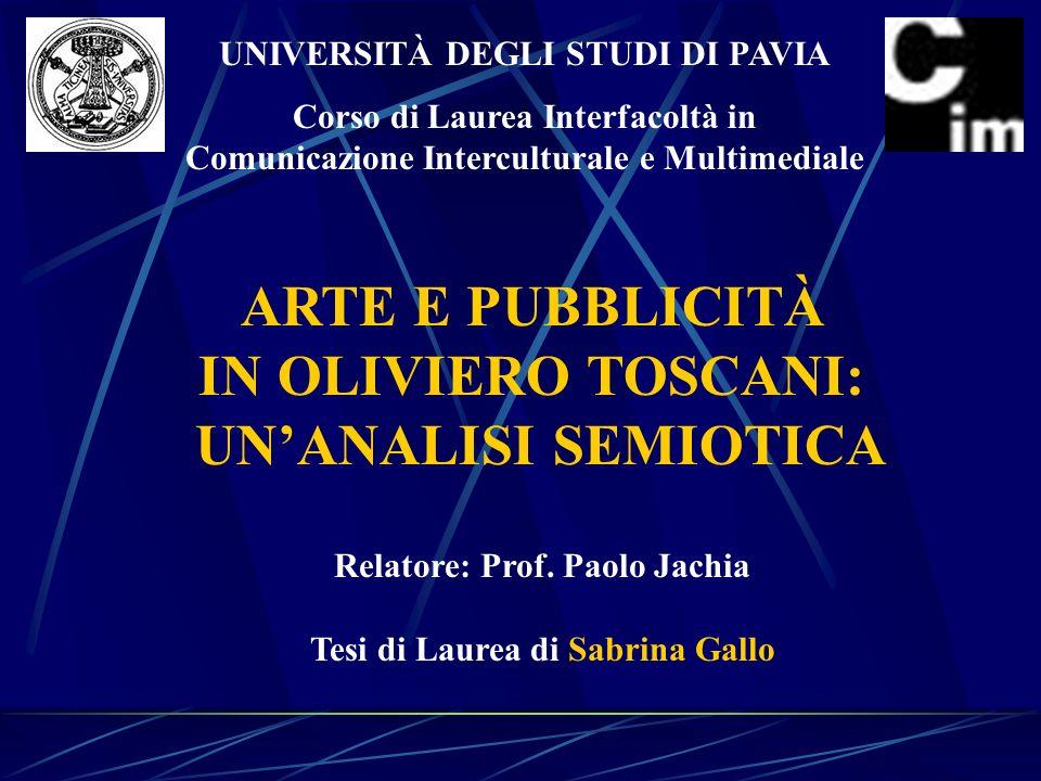 ARTE E PUBBLICITÀ IN OLIVIERO TOSCANI: UN'ANALISI SEMIOTICA