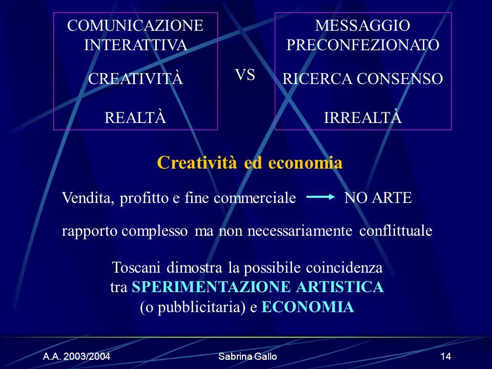 Creatività ed economia