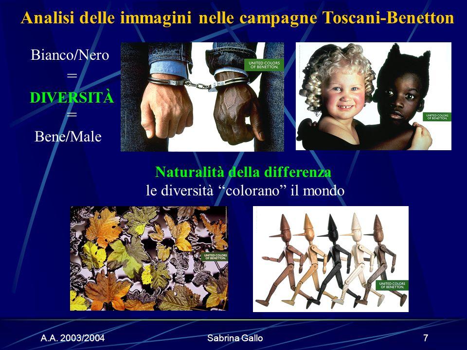 Analisi delle immagini nelle campagne Toscani-Benetton