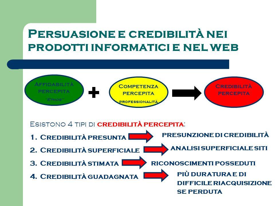 Persuasione e credibilità nei prodotti informatici e nel web