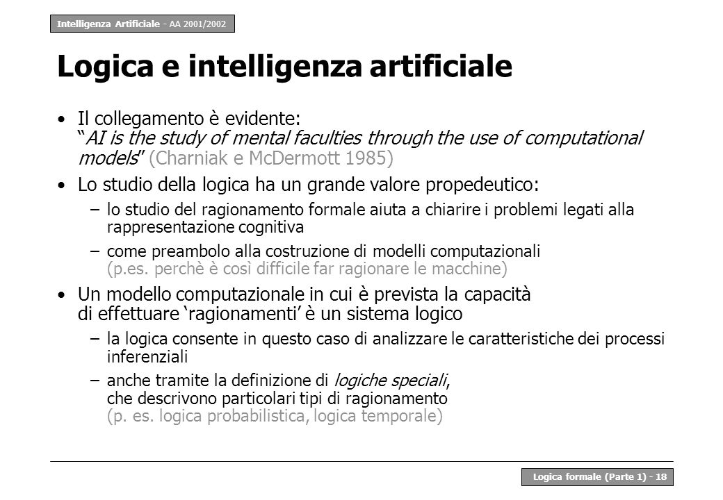 Logica e intelligenza artificiale