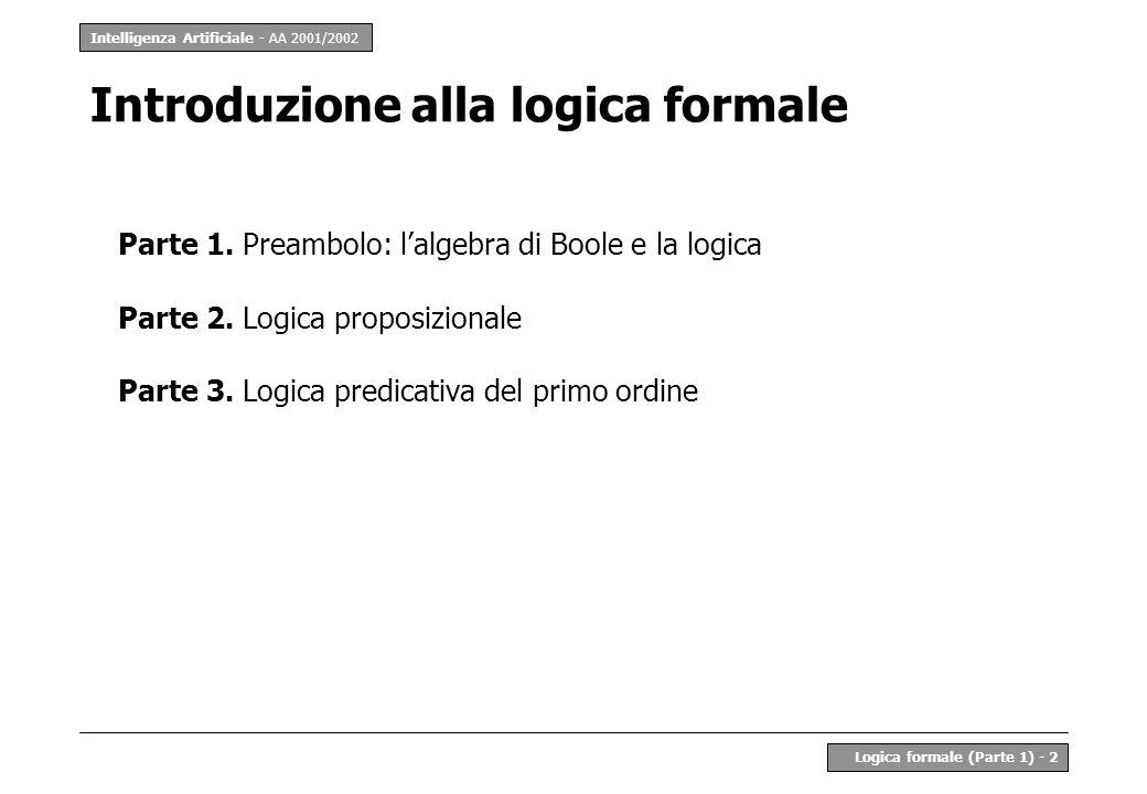 Introduzione alla logica formale