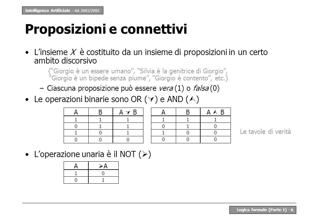 Proposizioni e connettivi