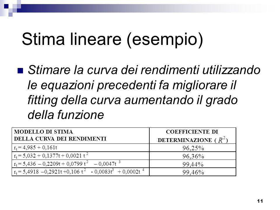 Stima lineare (esempio)