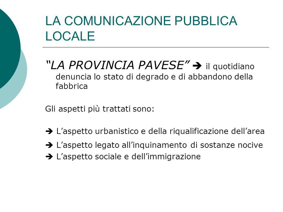 LA COMUNICAZIONE PUBBLICA LOCALE