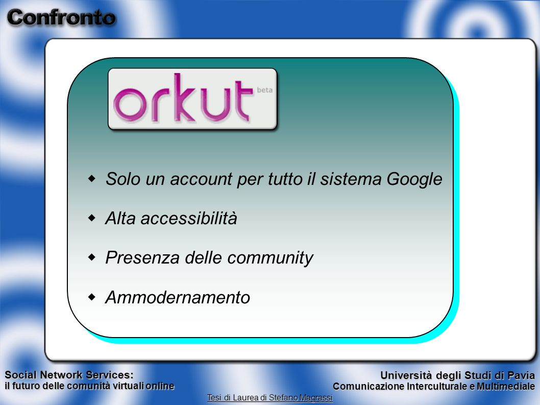  Solo un account per tutto il sistema Google w Alta accessibilità