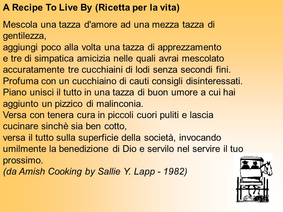 A Recipe To Live By (Ricetta per la vita)