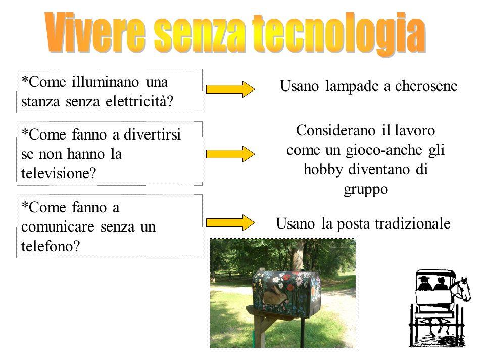 Vivere senza tecnologia