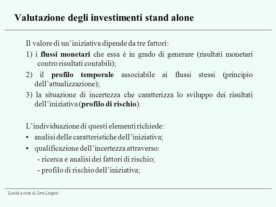 Valutazione degli investimenti stand alone