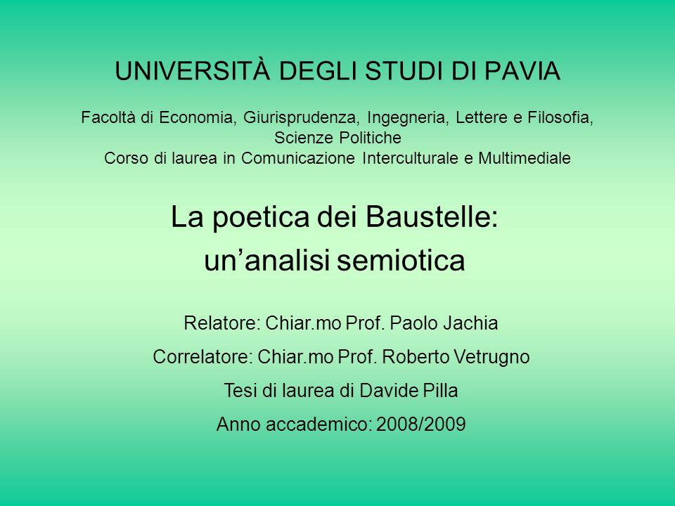La poetica dei Baustelle: un'analisi semiotica