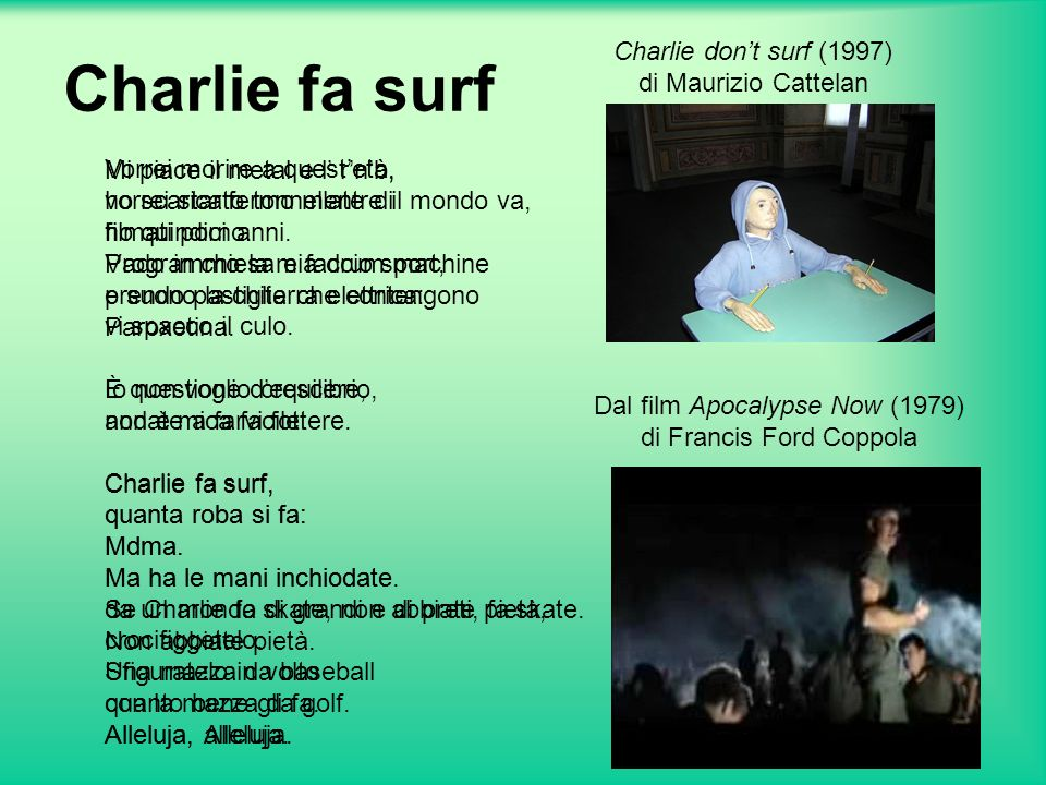 Charlie fa surf Charlie don't surf (1997) di Maurizio Cattelan