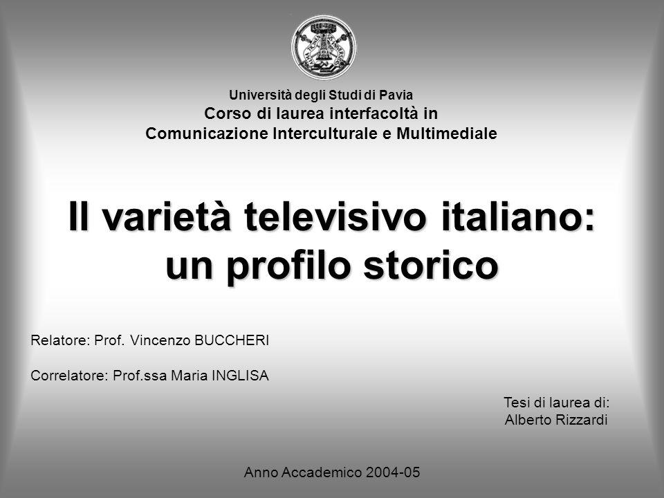 Il varietà televisivo italiano: un profilo storico