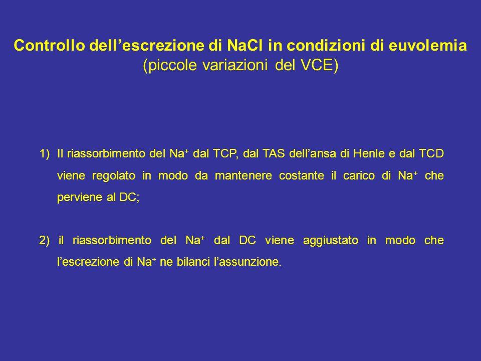 Controllo dell'escrezione di NaCl in condizioni di euvolemia