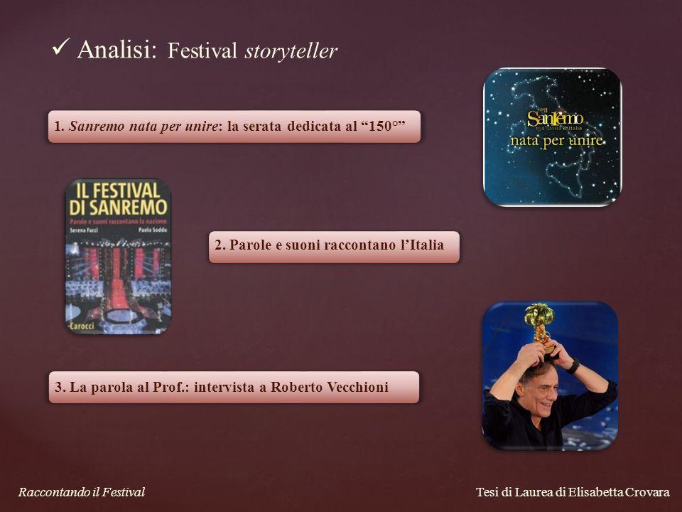 Analisi: Festival storyteller