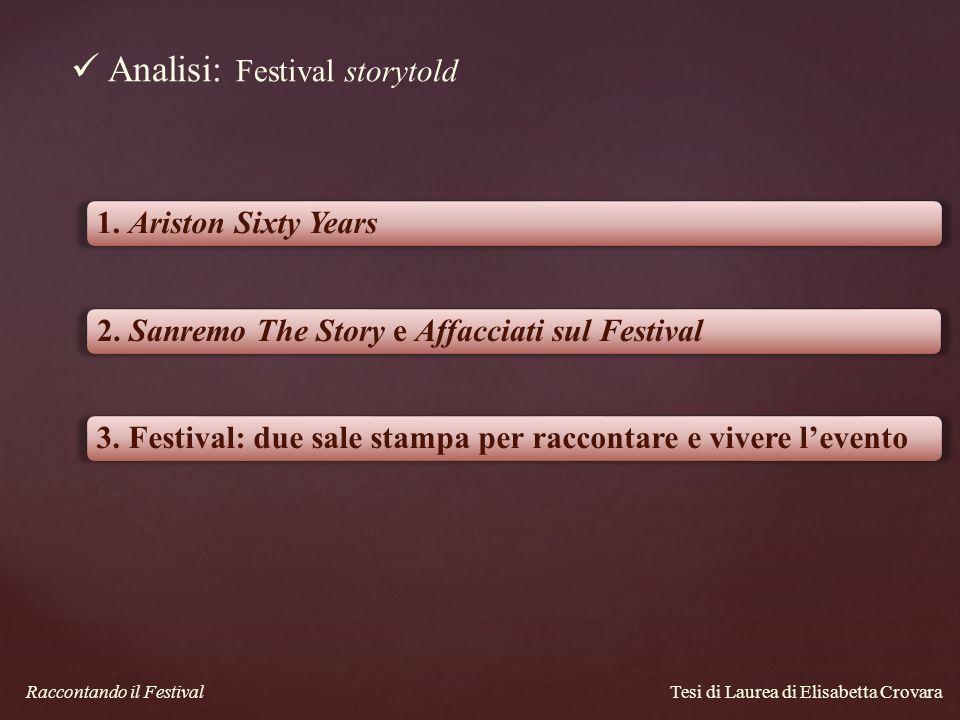 Analisi: Festival storytold