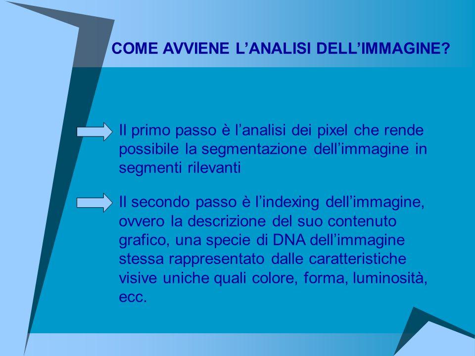 COME AVVIENE L'ANALISI DELL'IMMAGINE