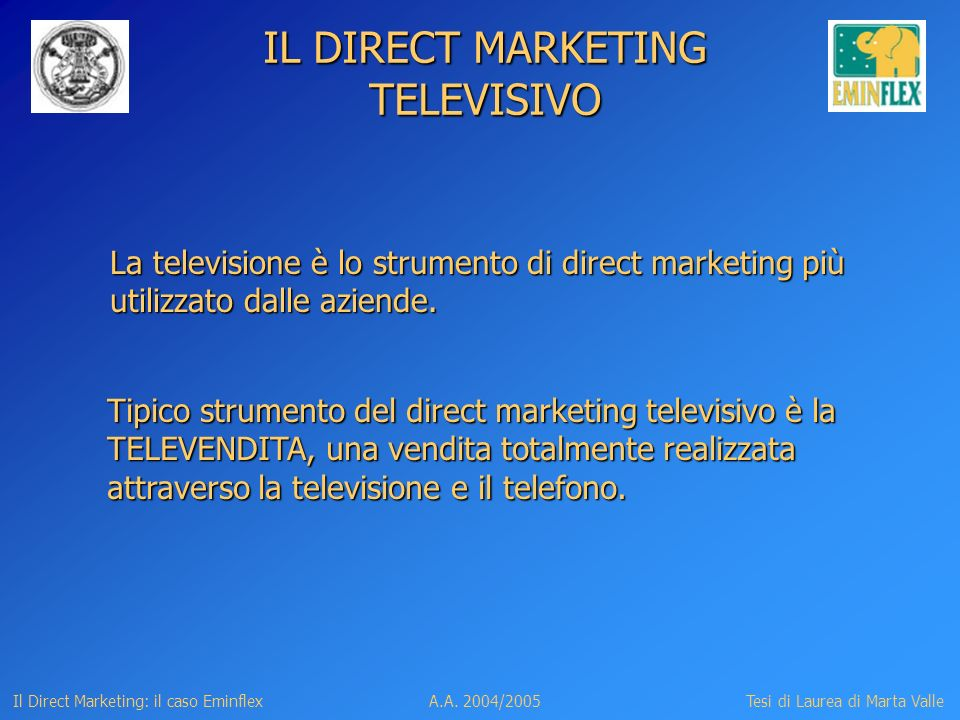 IL DIRECT MARKETING TELEVISIVO