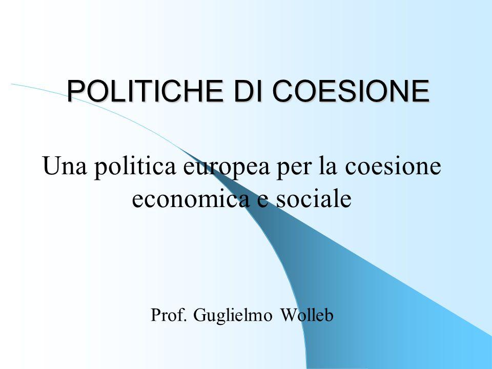Una politica europea per la coesione economica e sociale