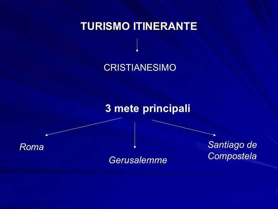 TURISMO ITINERANTE 3 mete principali