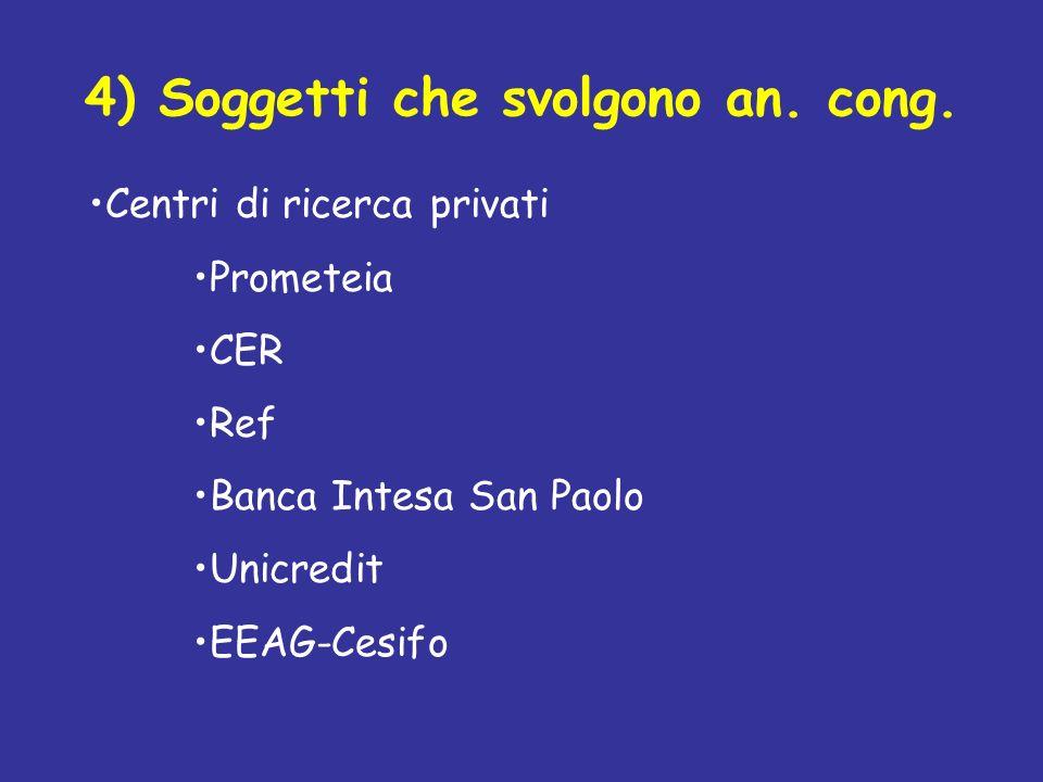 4) Soggetti che svolgono an. cong.