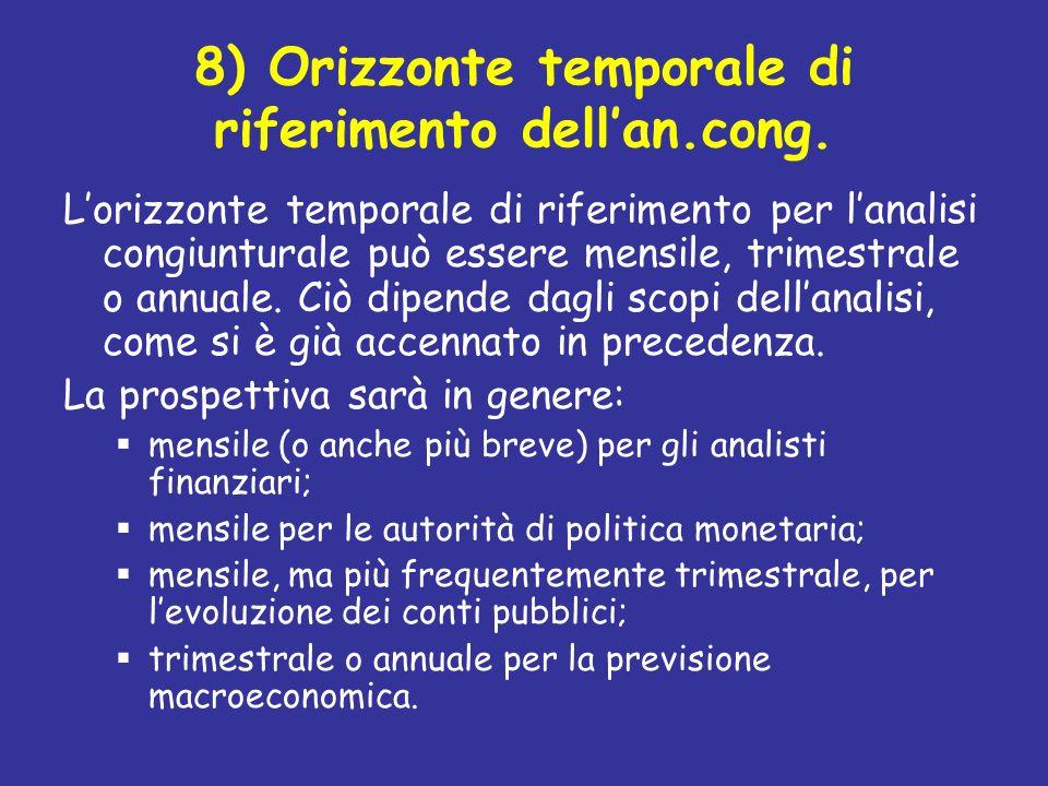 8) Orizzonte temporale di riferimento dell'an.cong.