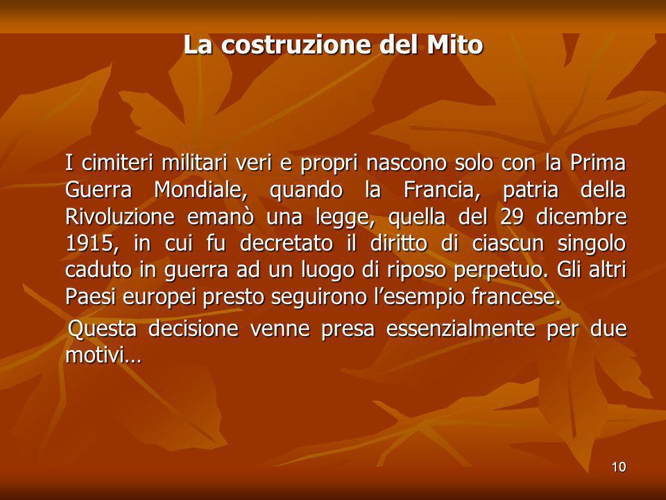 La costruzione del Mito
