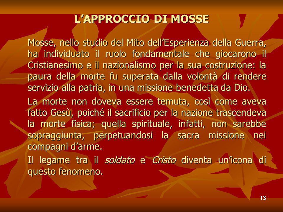 L'APPROCCIO DI MOSSE