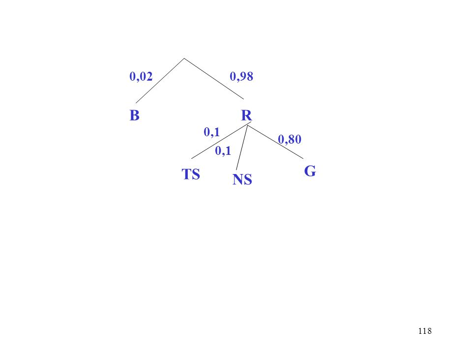 0,02 0,98 B R 0,1 0,80 0,1 TS G NS