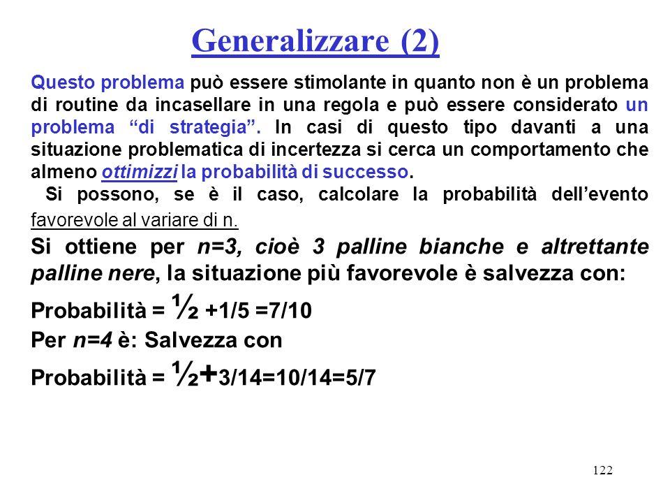 Generalizzare (2)
