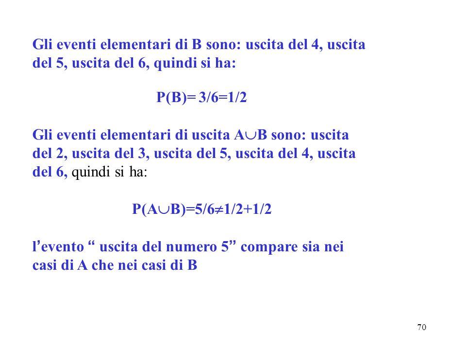 P(B)= 3/6=1/2 P(AB)=5/61/2+1/2