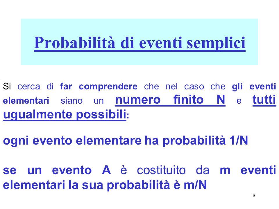 Probabilità di eventi semplici