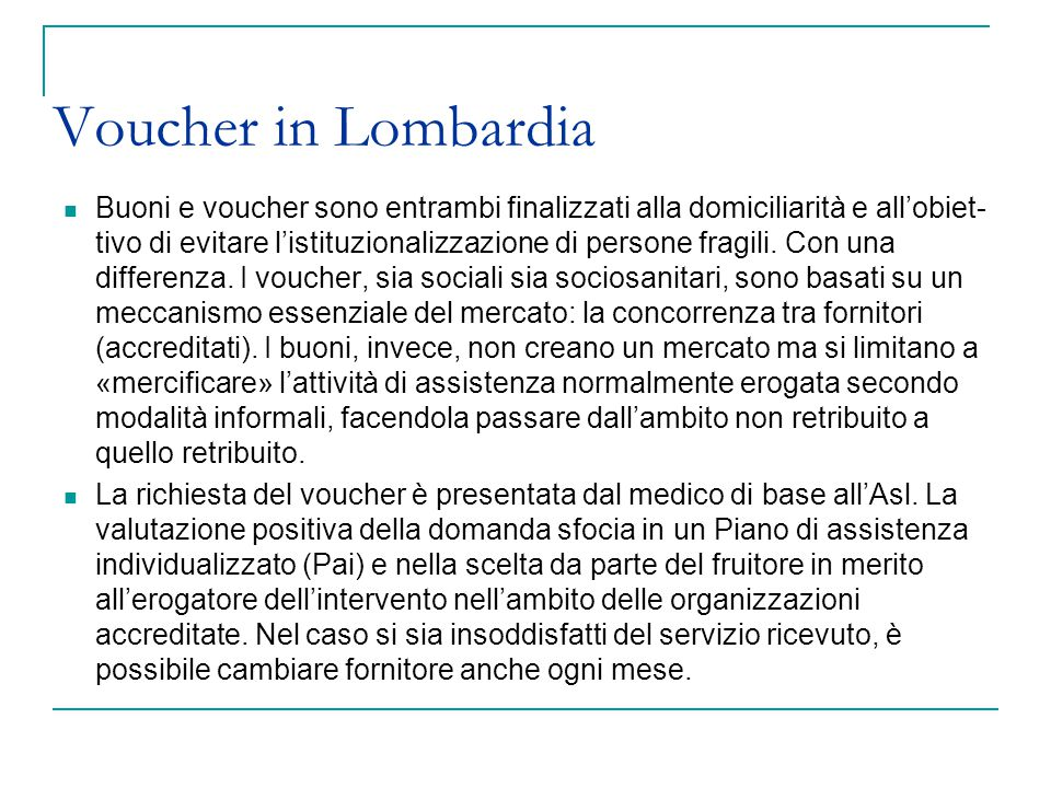 Voucher in Lombardia