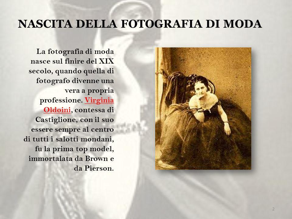 NASCITA DELLA FOTOGRAFIA DI MODA