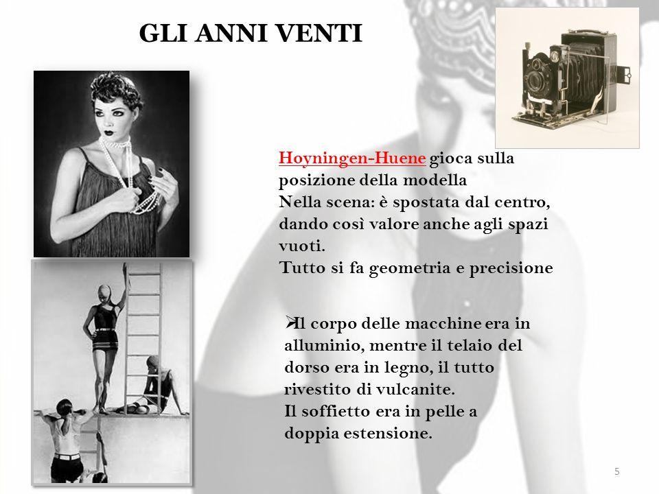 GLI ANNI VENTI Hoyningen-Huene gioca sulla posizione della modella