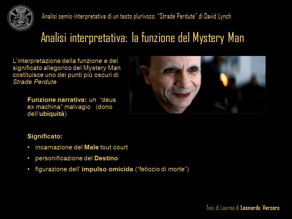 Analisi interpretativa: la funzione del Mystery Man